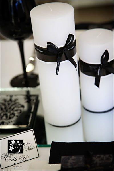 Black U0026 White Candle Decor