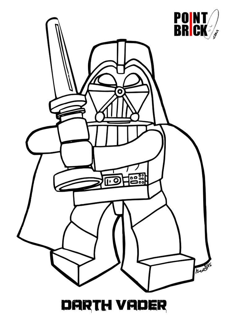 disegno di lego darth vader da colorare coloring pages