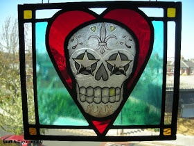 Stellar Stained Glass Skull