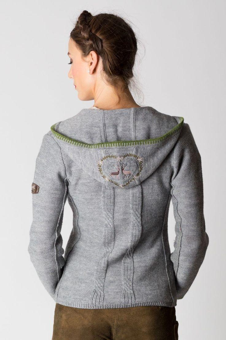 Trachtenjacke Apolda, grau/grau - Online Shop Ludwig und Therese | Inspiration for raredirndl.com Awesome sweater and hair!