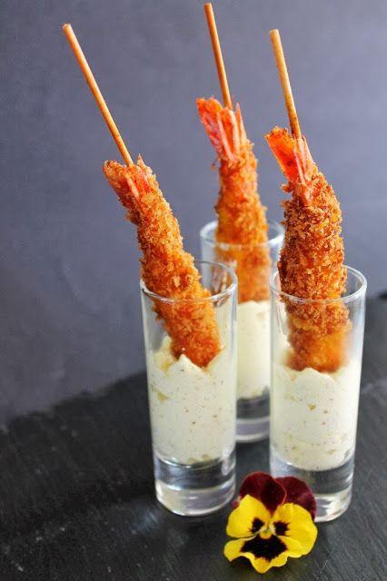 Pincholos - El blog de Yolanda García - Foodie World: Gambas crujientes con espuma de mostaza dijonaise. Receta para el concurso Maille de Canal Cocina.