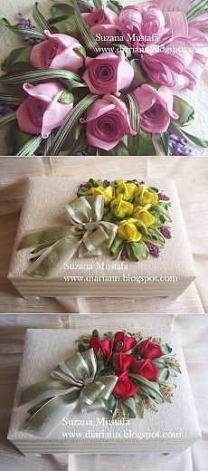 Volumetric embroidery ribbons.  ROSES.  Photography masterclass.
