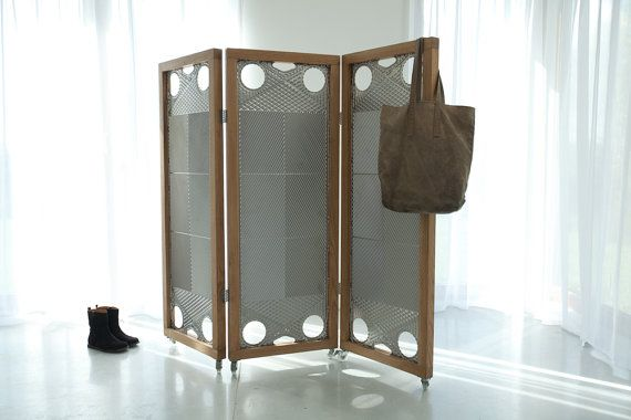 Metal screen in wooden frame by Nanowo on Etsy,