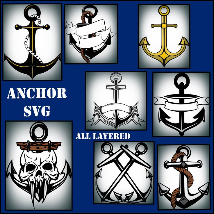 Anchor SVG - Anchor layered SVG - Anchor SVG Png Jpeg - Anchor Decals - Anchor designs for Cricut and Silhouette by TopNotchCraftsCo on Etsy