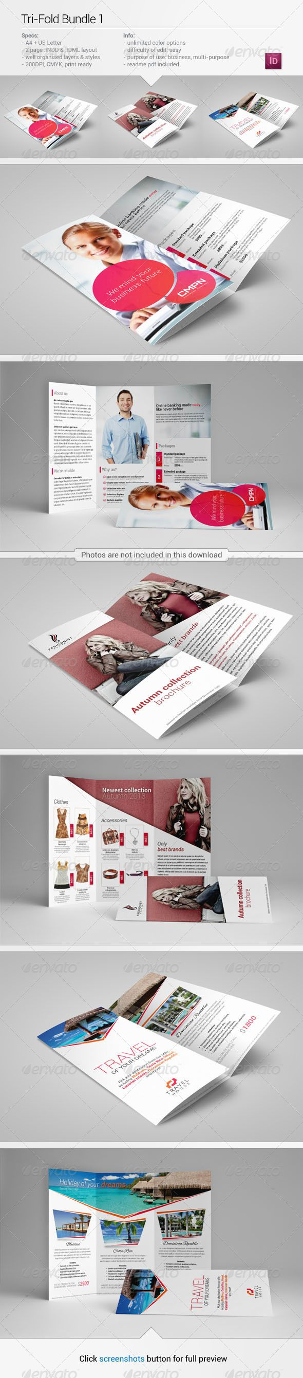 Realistic Graphic DOWNLOAD (.ai, .psd) :: http://jquery.re/pinterest-itmid-1006056535i.html ... Tri-Fold Bundle 1 ...  Trifolder, banking, brochure, bundle, business, clothing, commerce, corporat, couple, design, few, fold, graphic, leaflet, market, money, pack, pamphlet, print, template, three, threefold, travel, tri, tri-fold, trifold  ... Realistic Photo Graphic Print Obejct Business Web Elements Illustration Design Templates ... DOWNLOAD…