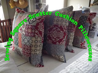 A Pretty Talent Blog: Sewing Square Scatter Cushion Pillow Covers