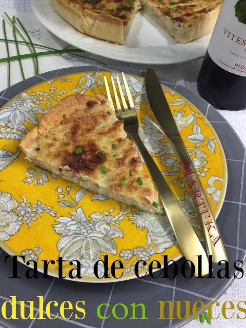 Las recetas de Martuka: Tarta De Cebolla Dulce Y Nueces (Sin Huevo)