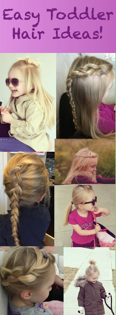 Easy Toddler Hair Ideas! Princess hair, easy braids, top knot, half up top knot, inside out French braid