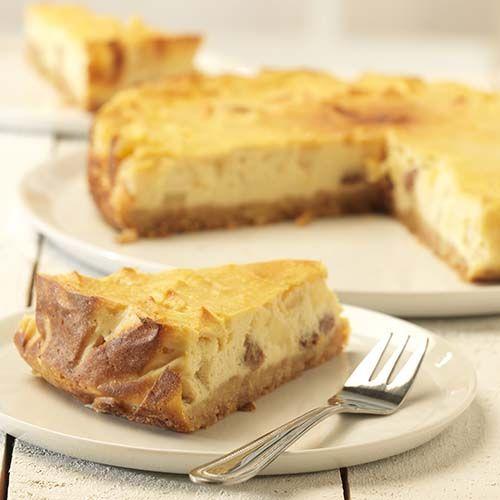 Tarte au fromage aux pommes et aux palets bretons