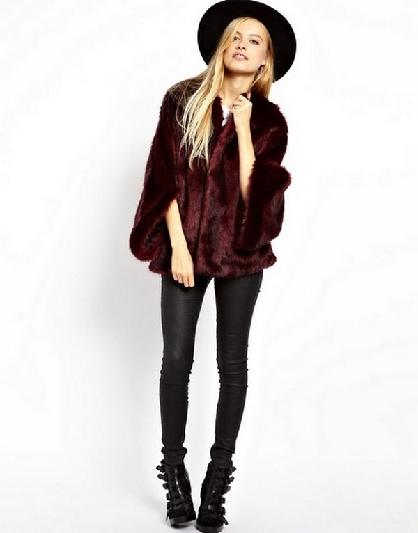 Short Fur Coat With Hood