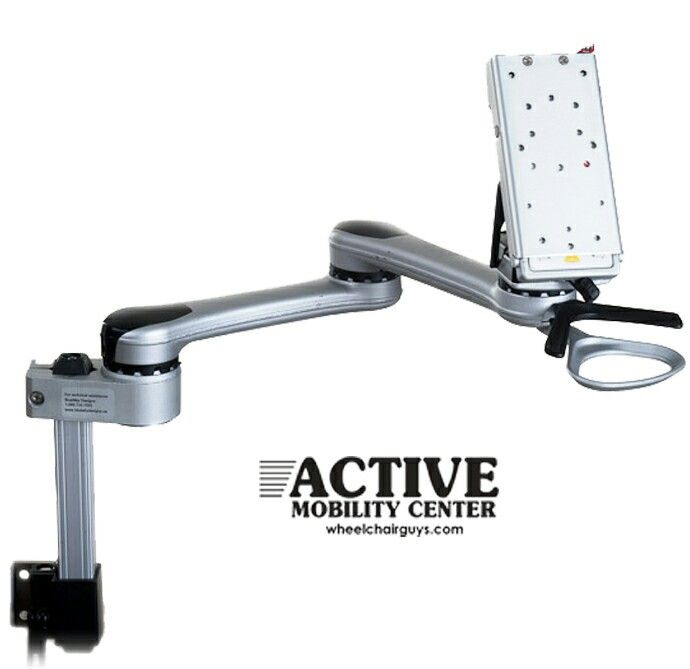 Mount all your electronic devices and turn your wheelchair into a mobile office #wheelchair