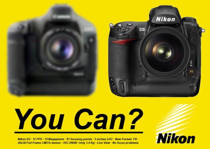 pone una cámara borrosa para decir que una tiene más y mejor resolución