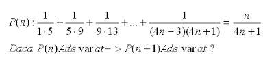 formule online probleme si exercitii rezolvate: Inductie matematica exercitiu rezolvat 11