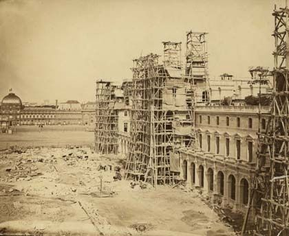 New Louvre under construction, Paris (circa 1855)