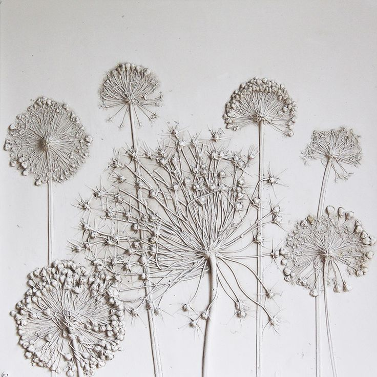 Rachel Dein. Her method of plaster casting captures everyday objects in a unique and delicate way. She makes impressions in wet clay, and then pours plaster directly over it. The clay captures the most intricate details, subtly coloring the plaster as it sets. Each clay mould can only be used once, making every piece unique.