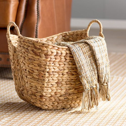 Found it at Wayfair - Tall Water Hyacinth Wicker Basket with Handles