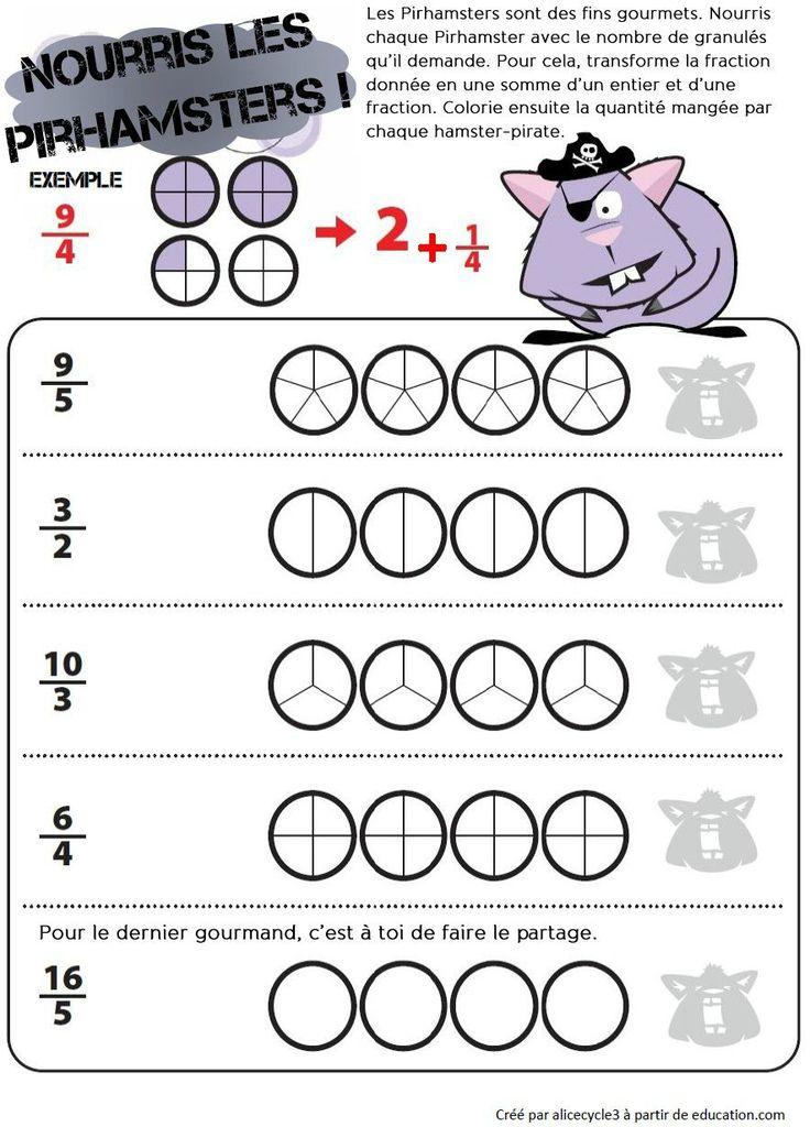 15 best maths fraction images on pinterest fractions maths and workshop. Black Bedroom Furniture Sets. Home Design Ideas