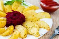 Рецепт-Картофельные дольки   Блюда