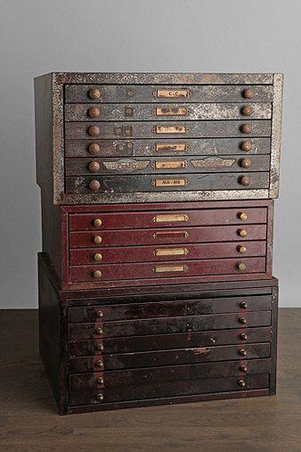 vintage watchmaker cabinets