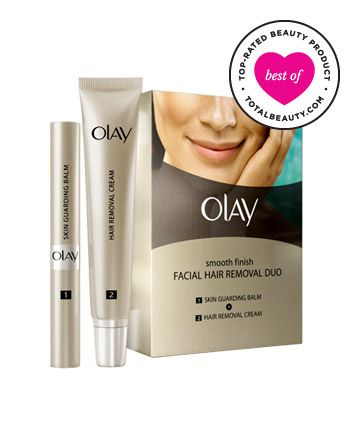 No. 10: Olay Smooth Finish Facial Hair Removal Duo, $23.99 - cream is effective &  leaves no redness according to site.