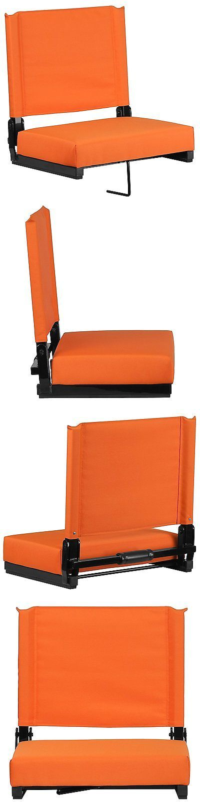 Other Outdoor Sports 159048: Bleacher Seats With Backs Red Stadium Chair Cushion Comfy Portable - Orange New! -> BUY IT NOW ONLY: $46.46 on eBay!