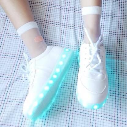 """Fashion students colorful led rechargeable  luminous shoes  Coupon code """"cutekawaii"""" for 10% off"""