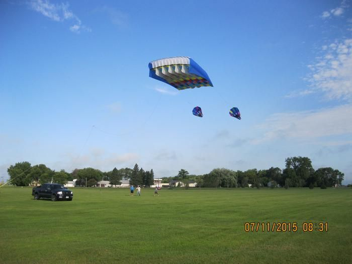 """Portable winch customer review: """" I fly big kites as a hobby. Very big kites. I bought and use the Portable Winch Gas-Powered Capstan Winch Model# PCW-5000 to become part of the rigging on my largest ParaForm kite. It is capable of pulling up to 3500 pounds. Usually the kite is brought down by a trip line configuration, but there are times that space does not allow that, and there are also times that I need to just lower the kite's altitude without doing a full take down.""""…"""