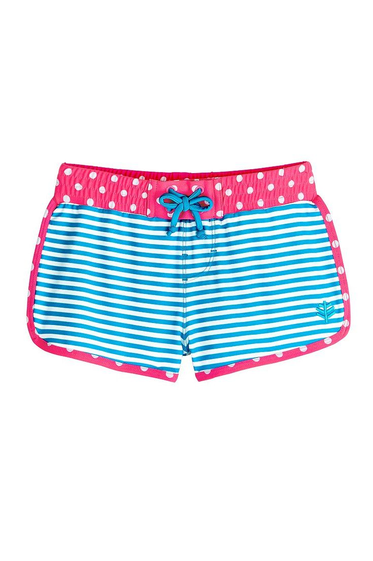 Designed with our quick drying, saltwater, and chlorine resistant Aqua SUNTECT® fabric, these cute Beach Shorts pair easily with our rash guards and swim shirts to create the perfect swim outfit.