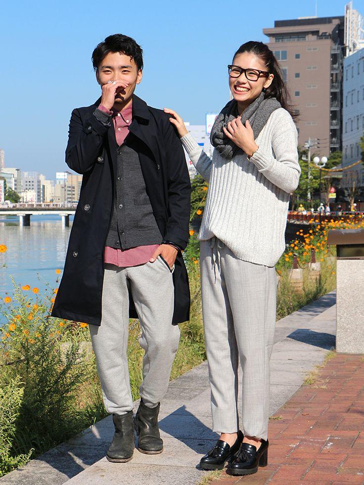 【福岡三越店&キャナルシティ博多店スタッフ注目コーデ】 グレーパンツでクリーン×リラックスのカップルコーデ。(左)ロング丈が今年らしい着こなしに。(右)ワントーンコーデなら一気にオシャレ度アップ。 ■福岡三越店 http://mobile.gap.co.jp/stores/sp/store.php?shopId=36193819 ■キャナルシティ博多店 http://mobile.gap.co.jp/stores/sp/store.php?shopId=36393839 ■オンラインストアはこちら http://www.gap.co.jp ■GapストアスタッフコーデをWEARで見る(Women) http://wear.jp/gapjapan/ ■GapストアスタッフコーデをWEARで見る(Men)  http://wear.jp/gapjapanmen/