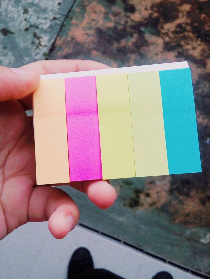Little rainbow sticky notes ... Love it so much ^^