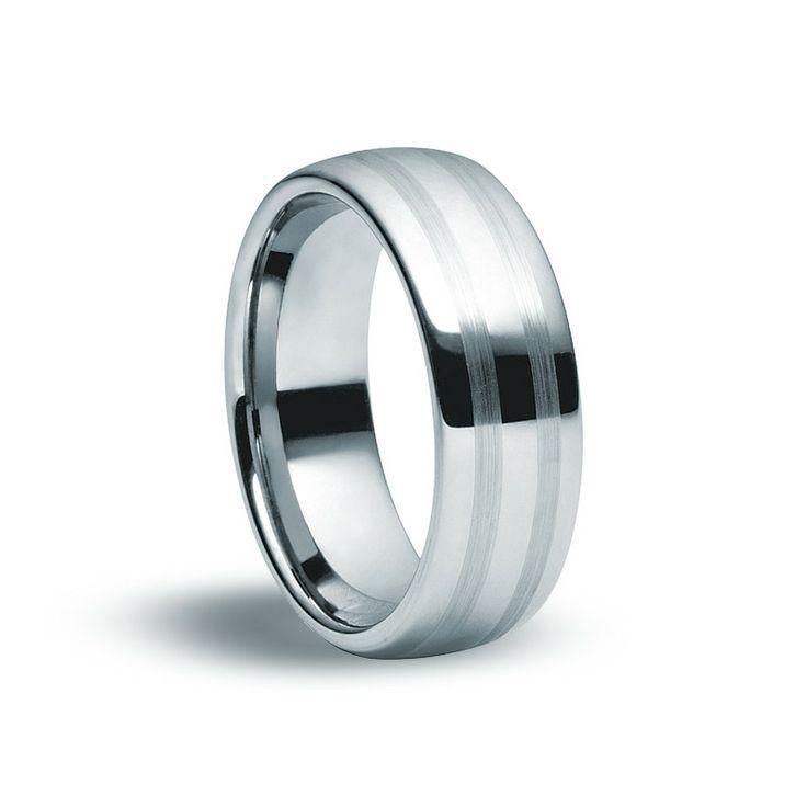 Tungsten Carbide Matte & Gloss Ring