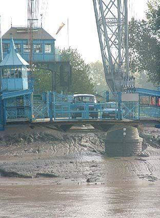 The Transporter Bridge in Newport, South Wales.