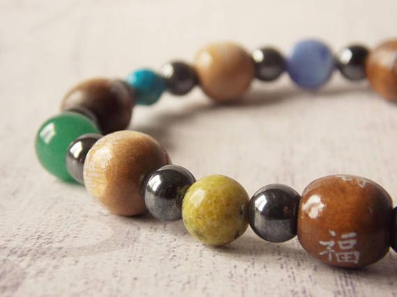 7 Chakra Bracelet (Gemstones, Crystals, Nature Stones, Chakra Balancing, Yoga, Meditation, Recycled Materials)