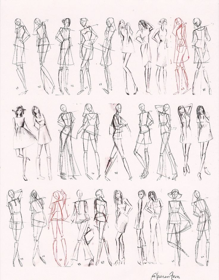 images for gt how to draw fashion figures in simple steps