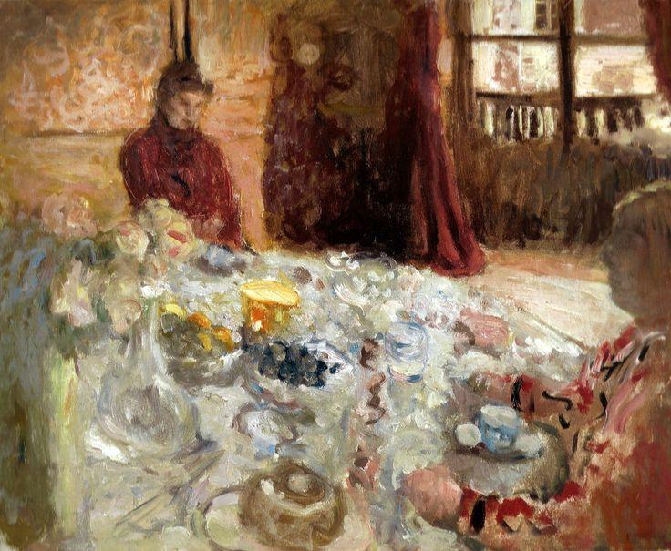Edouard Vuillard - Two Women at a Table, 1900 (Oskar Reinhart Art Collection, Winterthur, Switzerland)