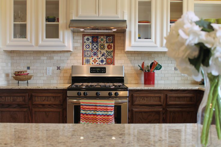 17 best images about our remodeling work on pinterest for Spanish style kitchen backsplash