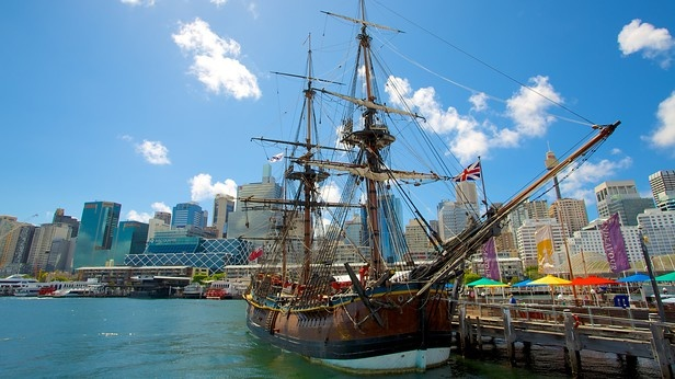 Climb aboard and explore the many historic vessels moored out front the National Maritime Museum in Sydney, Australia