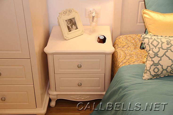 Фото беспроводная система вызова гувернантки в частном доме - кнопка вызова в спальне | callbells.net | Киев Украина
