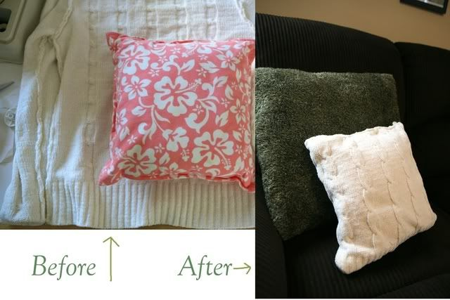 Emmy Mom--One Day at a Time: How to Recover Pillows with Sweaters