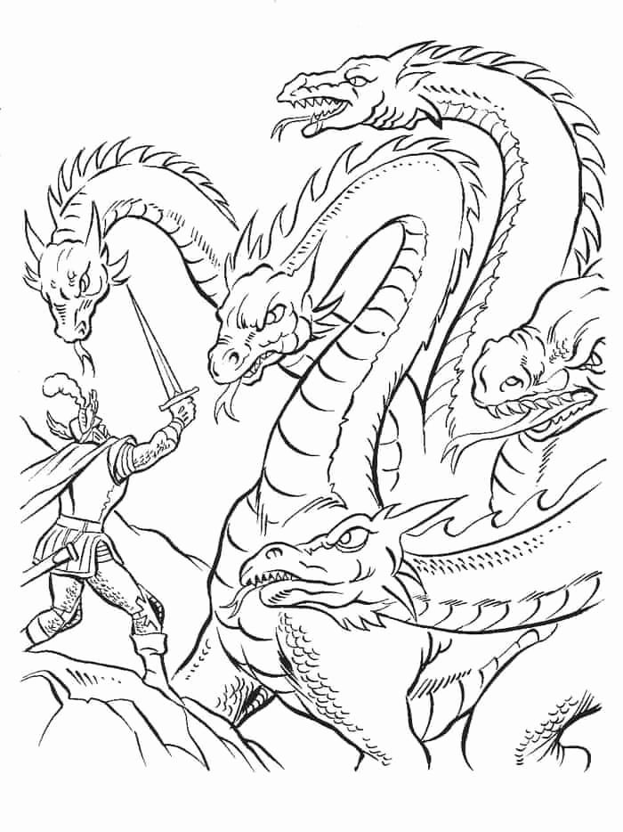 scary dragon coloring pages for kids in 2020  dragon
