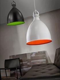aranżacja wnętrz - Wykorzystano oprawę Lampa wisząca Swing – Czarny + Zielony (MD7266-380-2) – Azzardo