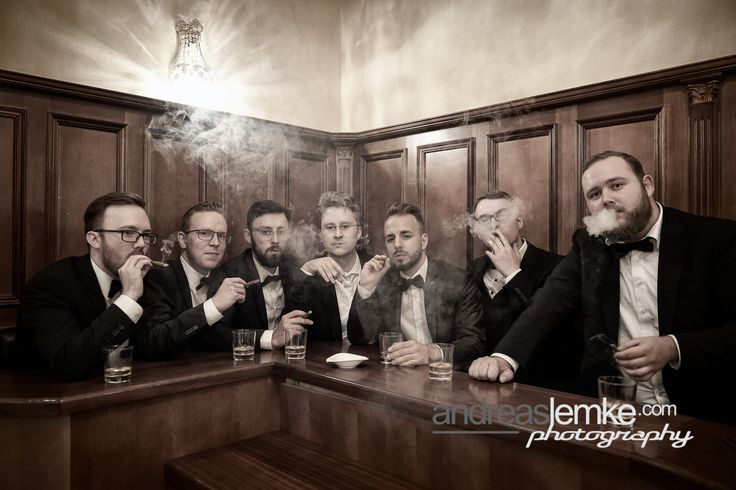 Best men best friends smoking cigars. Wedding Photography Vintage Style www.andreaslemke.com #fotografberlin #hochzeitsfotograf www.hochzeitsfotografie-berlin.org #hochzeitsfotografberlin www.eventfotografberlin.com #eventfotograf #weddingphotographerberlin #vintage #vintagewedding #friends #cigars #smoking #friends #men