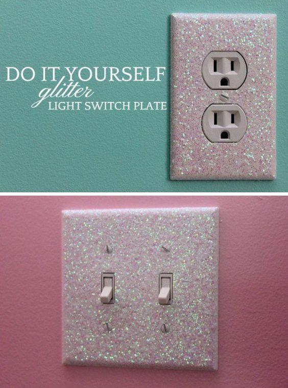 Glitter Light Switch Plates
