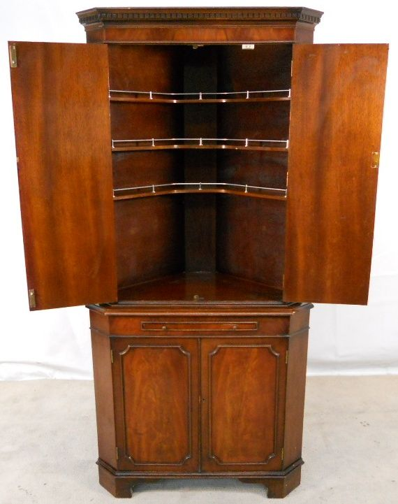 Sold Corner Cocktail Cabinet In Antique Georgian Style