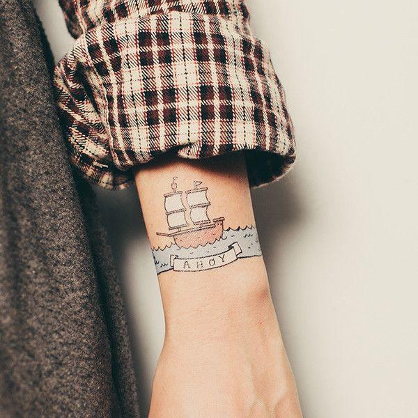 Tattly boat tattoo. Ahoy!