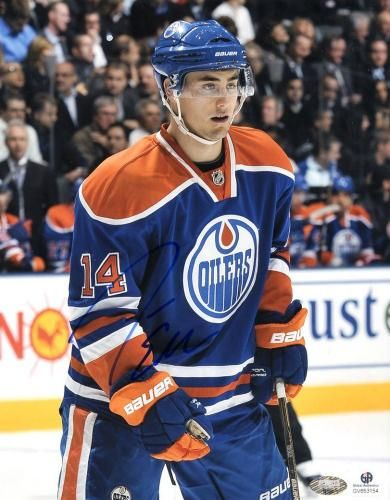 Jordan Eberle Signed 8x10 Photo - GA #SportsMemorabilia #EdmontonOilers