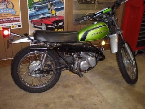 1974 Kawasaki 125 Enduro. I rode one of these to work everyday one summer when in high school.