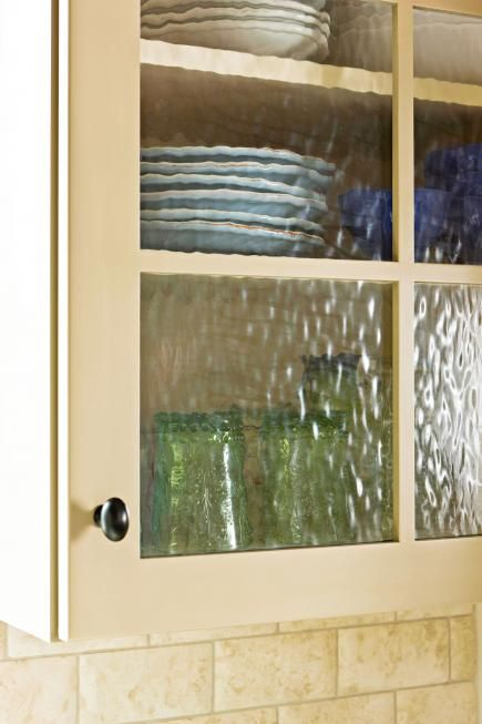 Saw rain glass cupboards at menards and loved them Kitchen
