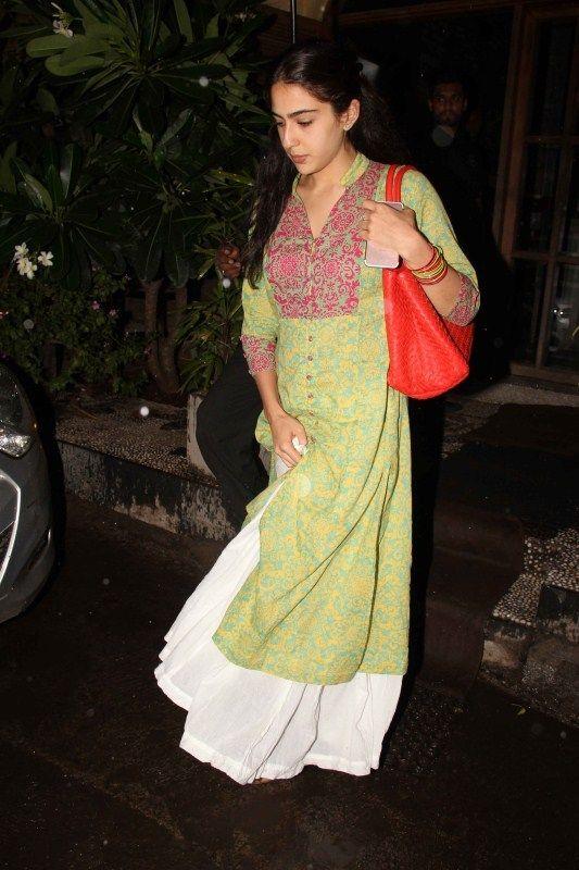 Bollywood actor Saif Ali Khan's daughter Sara Ali Khan snapped at Bandra in Mumbai on 22nd June 2017.