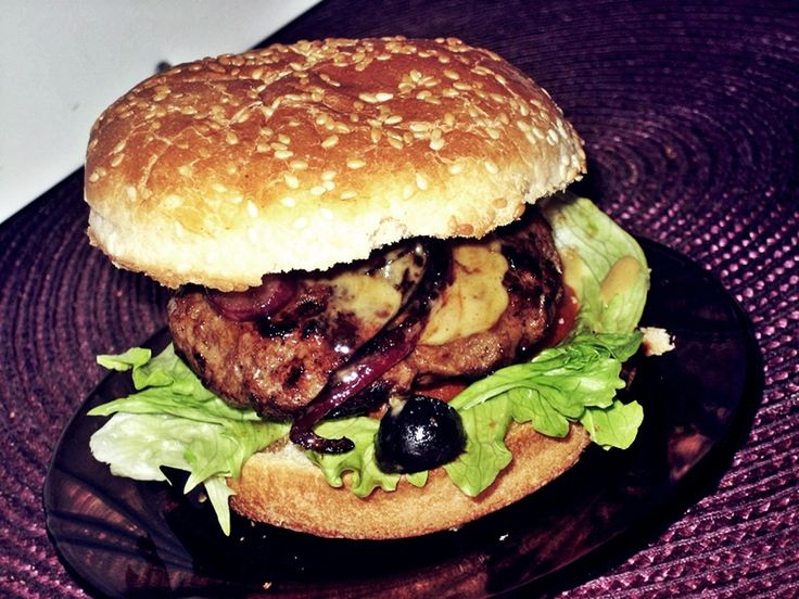 Love homemade burgers!!!